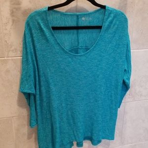 Stylus XL Top long sleeve turquoise